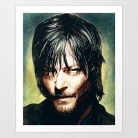 daryl dixon Art Prints featuring Daryl Dixon by p1xer