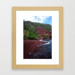 Red Sand Beach Framed Art Print