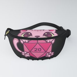 Dungeon Meowster Cat Tabletop Polyhedral Fanny Pack
