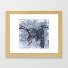 The Bearded Crow Framed Art Print