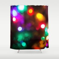 lights Shower Curtains featuring Lights by Michelle McConnell