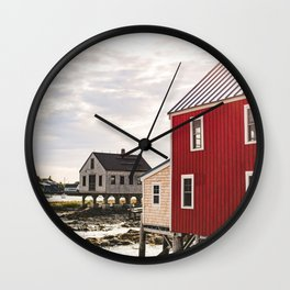 Coastal Maine Mornings I Wall Clock