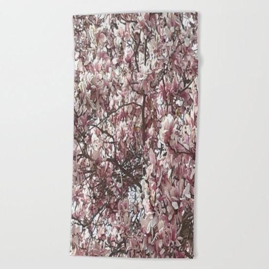Magnolia Blossoms Beach Towel