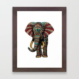 Ornate Elephant (Color Version) Framed Art Print