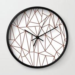 Geometric Cobweb (Brown & White Pattern) Wall Clock