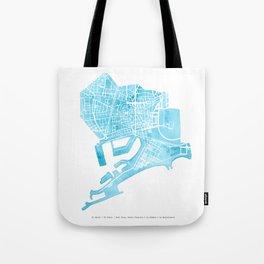 Barcelona map: Ciutat Vella Tote Bag