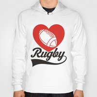 rugby Hoodies featuring RUGBY by solomnikov