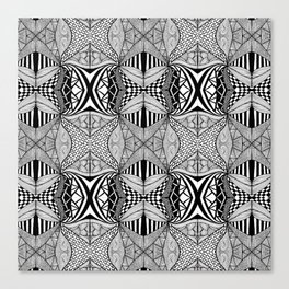 Zentangle #9 Canvas Print