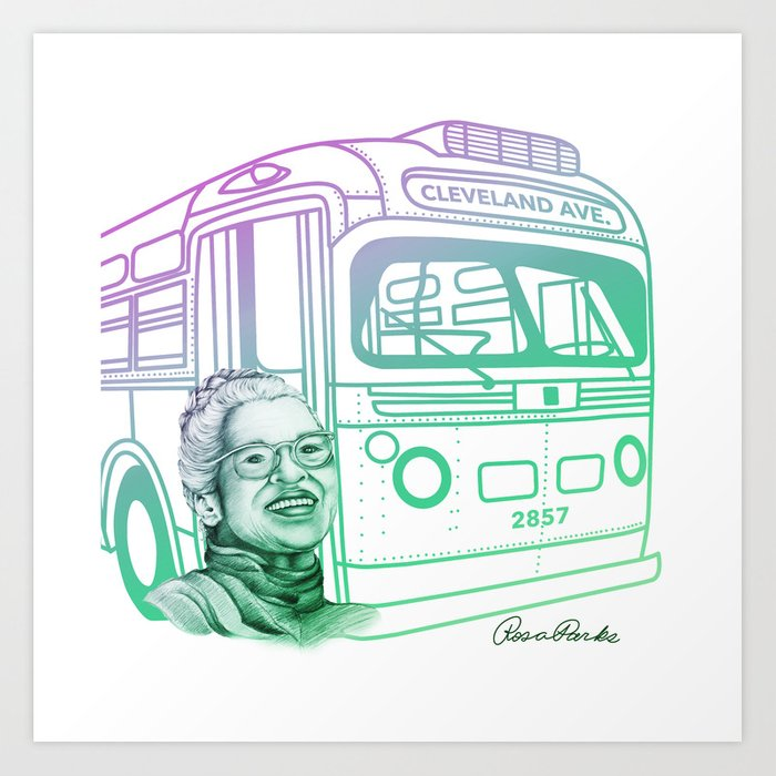 Rosa Parks, Courageous Woman Art Print