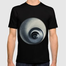 spiral abstract MEDIUM Black Mens Fitted Tee