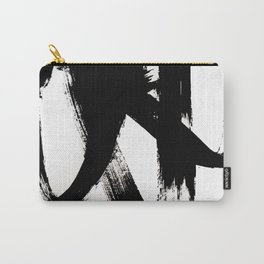 Brushstroke 2 - simple black and white Carry-All Pouch
