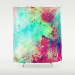 Join The Heavens - Abstract Space Painting Shower Curtain