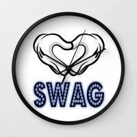 swag Wall Clocks featuring SWAG by Gold Blood