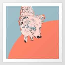 Garage Dog Art Print