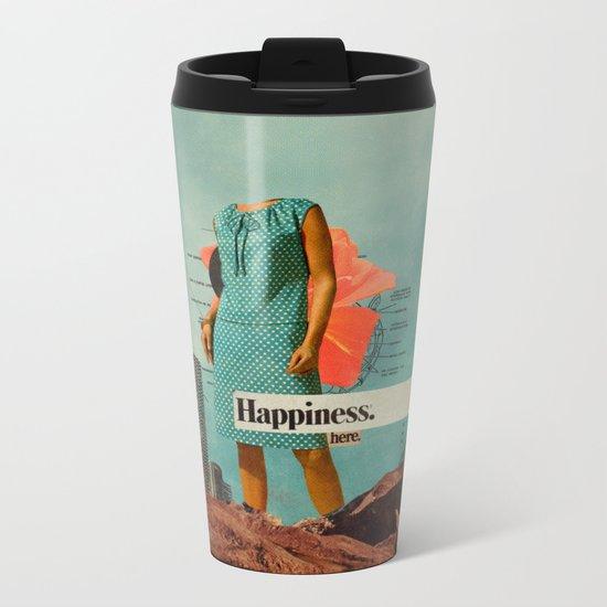 Happiness Here Metal Travel Mug