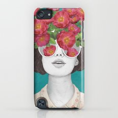 The optimist // rose tinted glasses iPod touch Slim Case