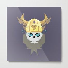 Thor Skull Metal Print