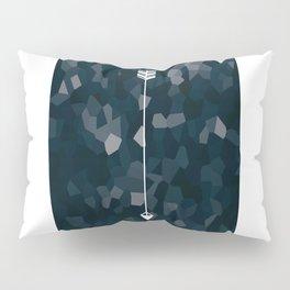 Blue Geometric Polygon White Single Arrow Pillow Sham