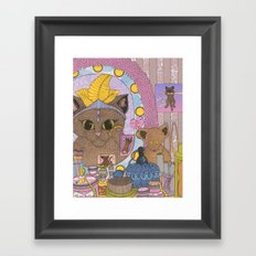 You Make Me Frisky Framed Art Print
