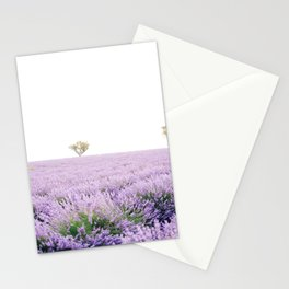 Beautiful Lavender Fields of Provence, France Stationery Cards