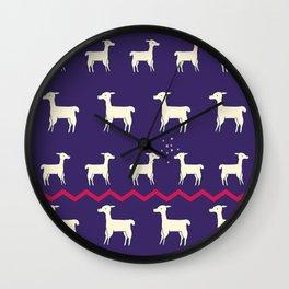 ALPACAS IN LOVE Wall Clock