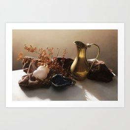 Warm Still Life Painting Art Print