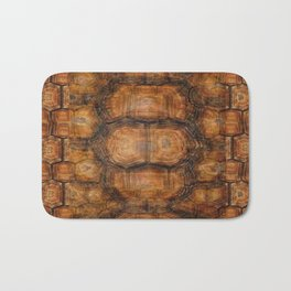 Brown Patterned  Organic Textured Turtle Shell  Design Bath Mat