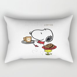 snoopy coffe cake Rectangular Pillow
