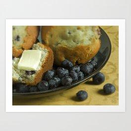 Blueberry Muffin  Art Print