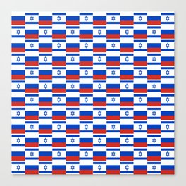 Mix of flag : israel and Russia Canvas Print