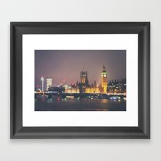 down by the thames ...  Framed Art Print