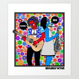 Friendly Sax Art Print