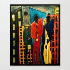 JAZZ CITY Canvas Print