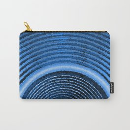 Blue music speaker and sound waves Carry-All Pouch