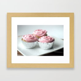 Rose cupcakes Framed Art Print