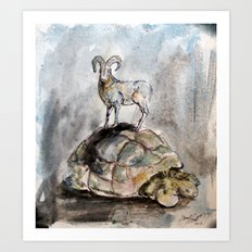 The Ram and the Tortoise Art Print