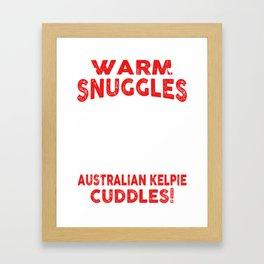 Australian Kelpie Ugly Christmas Sweater Framed Art Print