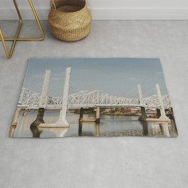 Louisville Bridges on the Ohio River Rug