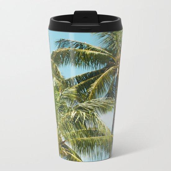 Coconut Palm Trees Sugar Beach Kihei Maui Hawaii Metal Travel Mug