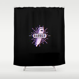 Barber Vintage Classic Barber Retro Distressed Gift Shower Curtain