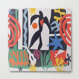 inspired to Matisse (black) Metal Print