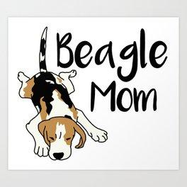 Beagle Mom Art Print