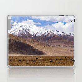 Tibet landscape with yaks Laptop & iPad Skin