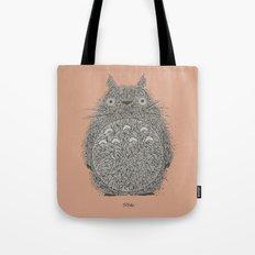 Peach Totoro Tote Bag
