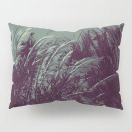 Vintage monocromatic pond plants Pillow Sham