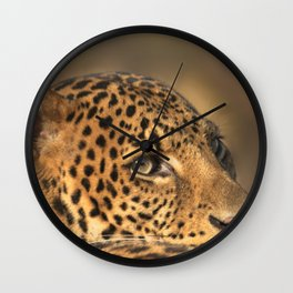 Face Of A Leopard Wall Clock
