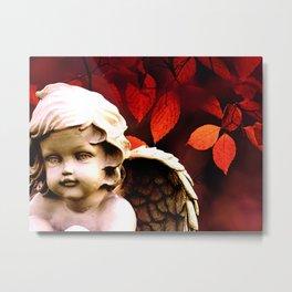 Little Angel Cherub Child Autumn Tree Spiritual A318 Metal Print