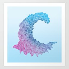Crystal Wave Art Print