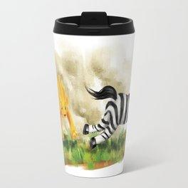 Lion & Zebra Travel Mug