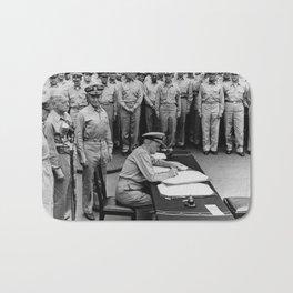 Admiral Nimitz Signing The Japanese Surrender Bath Mat